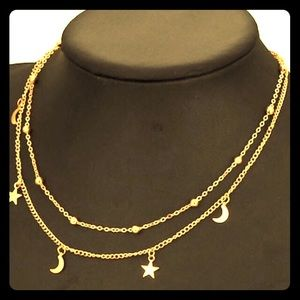 Jewelry - ‼️ONLY TWO LEFT‼️⭐️🌙Gold Star & Moon Choker🌙⭐️